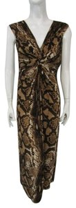 Brown Maxi Dress by Chico's Maxi Sleeveless