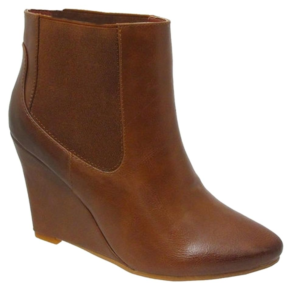 womens Yoki Brown Script Ankle appearance Boots/Booties Aesthetic appearance Ankle 014835
