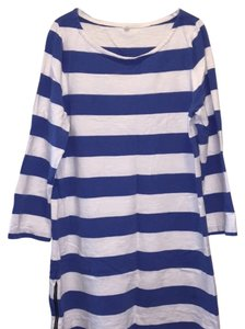 J.Crew short dress Blue and White on Tradesy
