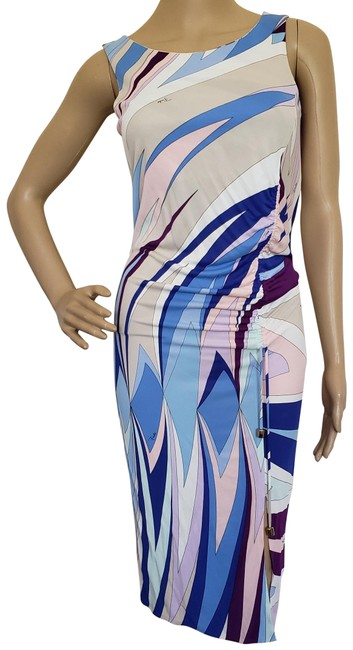 Preload https://img-static.tradesy.com/item/13378351/emilio-pucci-blue-white-pink-creme-sleeveless-midi-summer-mid-length-cocktail-dress-size-6-s-0-3-650-650.jpg