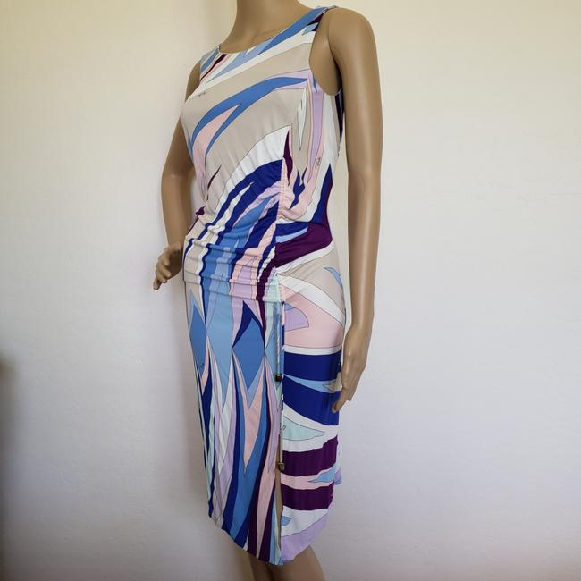 Emilio Pucci Sundress Sleeveless Monogram Print Ruffle Dress