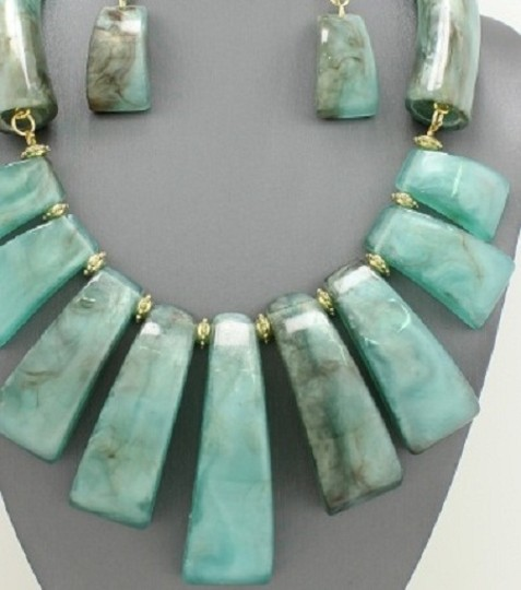 Other Tribal Bohemian Turquoise Necklace and Earrings