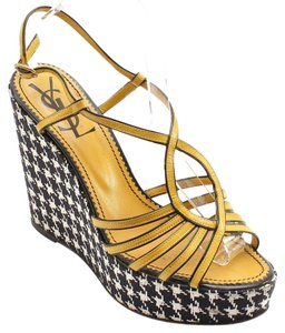 Saint Laurent Yellow, Black, White Wedges