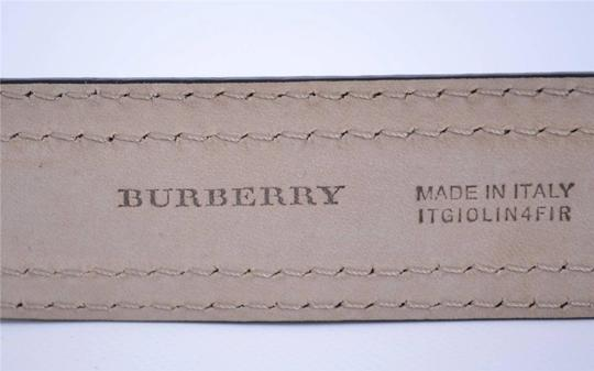 Burberry NEW BURBERRY WOMEN'S $450 BLACK LEATHER CANMORE BELT 26 65