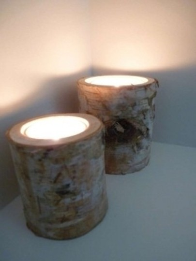 White Wedding Centerpiece- Birch Candle Holders(Set Of 70)
