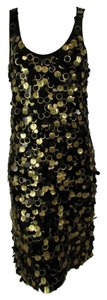 Michael Kors Sheath Sleeveless Sequin Embellishment Above Knee Dress