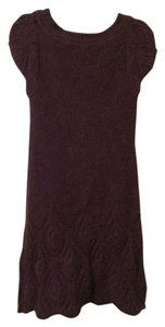 Vertigo Paris short dress Purple Sweater on Tradesy