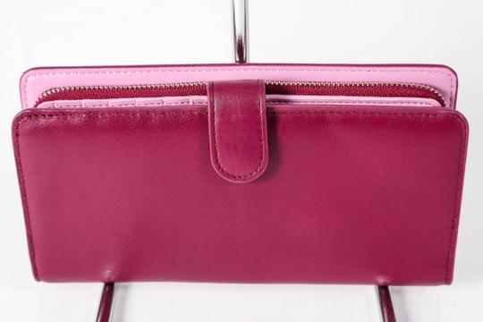 Coach * COACH COLORBLOCK LEATHER SKINNY WALLET