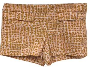 J.Crew Mini/Short Shorts White, Pink, Gold