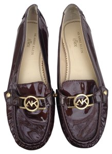 Anne Klein Brown Patent Leather Flats