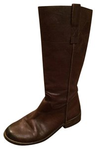 Mia Shoes Leather dark brown Boots