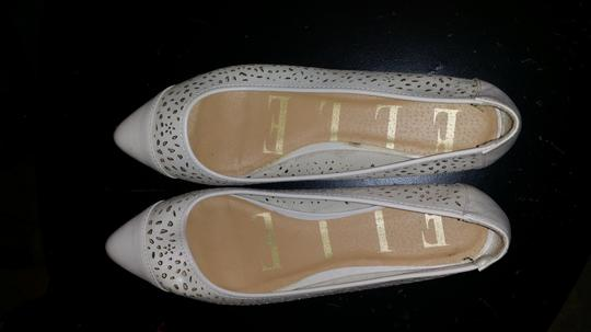 Elle Fla Pointed Toe Cream Flats