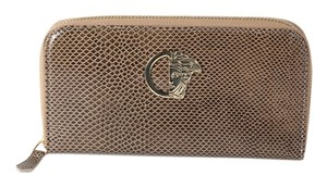 Versace * Versace Collection Snakeskin and Goldtone Leather Wallet