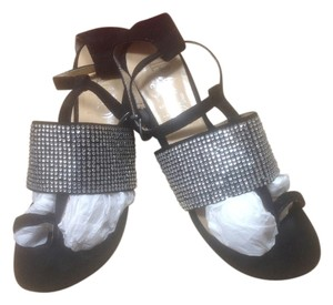 Paco Gil Black Suede with rhinestones Sandals