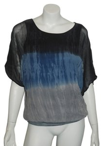 Red Haute Stars Slouchy Sheer Top Blue