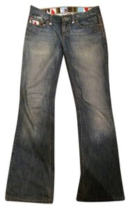 Joe's Distressed Detail Boot Cut Jeans-Medium Wash