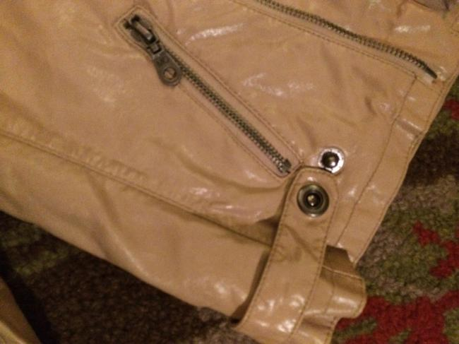 Members Only camel Leather Jacket