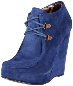 Betsey Johnson Blue Suede Boots