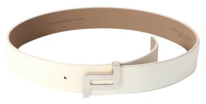 PORSCHE DESIGN * Porsche Design Ivory Leather Belt-MENS