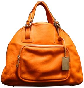 Furla Leather Italian Satchel in ORANGE