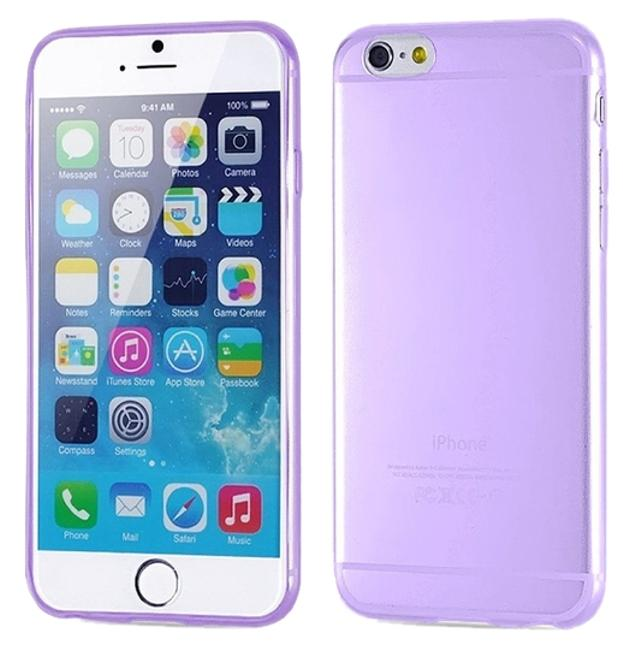 "Purple Iphone 6 / 6s Plus 5.5"" Tpu Rubber Gel Ultra Thin Case Cover Transparent Glossy 10 Colors Available Tech Accessory Image 1"