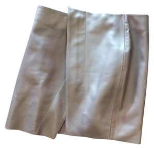 Acne Studios Mini Skirt Gray leather