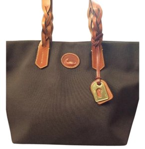 Dooney & Bourke Canvas Leather And Shoulder Bag