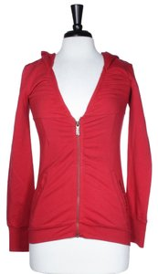 Miss Sixty MISS SIXTY RED ZIP FRONT CRYSTAL HOODIE SIZE S