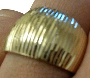 Cigar Band Ring Cigar Band Ring SOLID 14K Yellow Gold