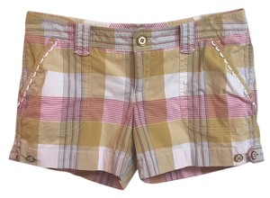 Juicy Couture Preppy Mini/Short Shorts Yellow/pink plaid
