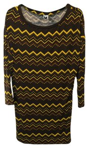 Missoni short dress Yellow, brown, black on Tradesy