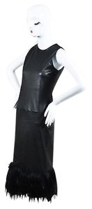 Wes Gordon short dress Black Leather Goat on Tradesy