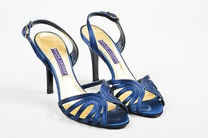 Ralph Lauren Collection Satin Heels Blue Sandals