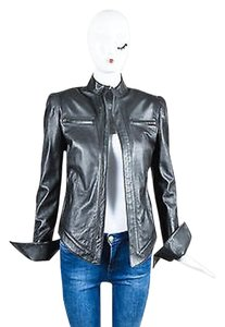 Todd Lynn Dark Leather Motorcycle Jacket
