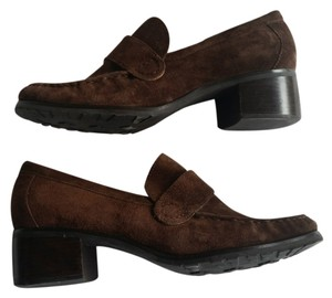 Cole Haan Suede Loafers Brown Flats