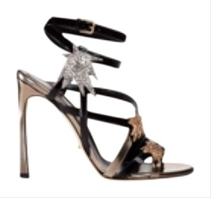 Sergio Rossi Black abd bronz with crystals Formal
