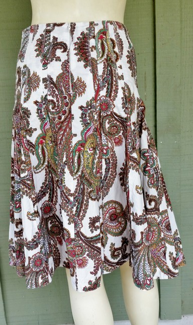 CAbi Paisley Skirt Multi