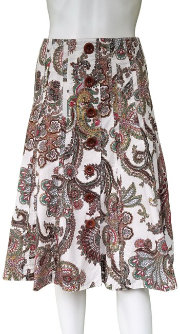 CAbi Paisley Cotton Skirt Multi