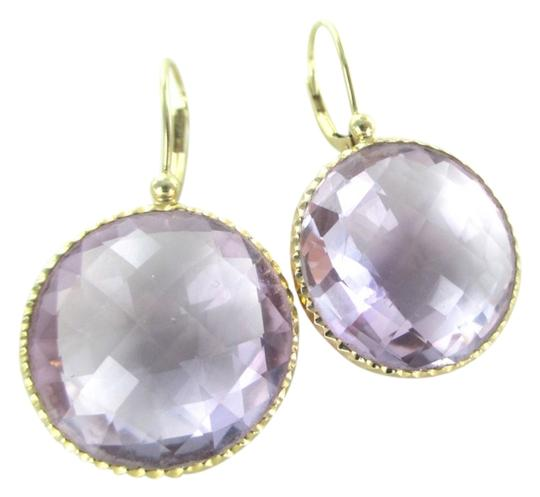 Preload https://img-static.tradesy.com/item/13382872/14k-yellow-gold-amethyst-round-stone-dangle-fine-jewel-no-scrap-earrings-0-1-540-540.jpg