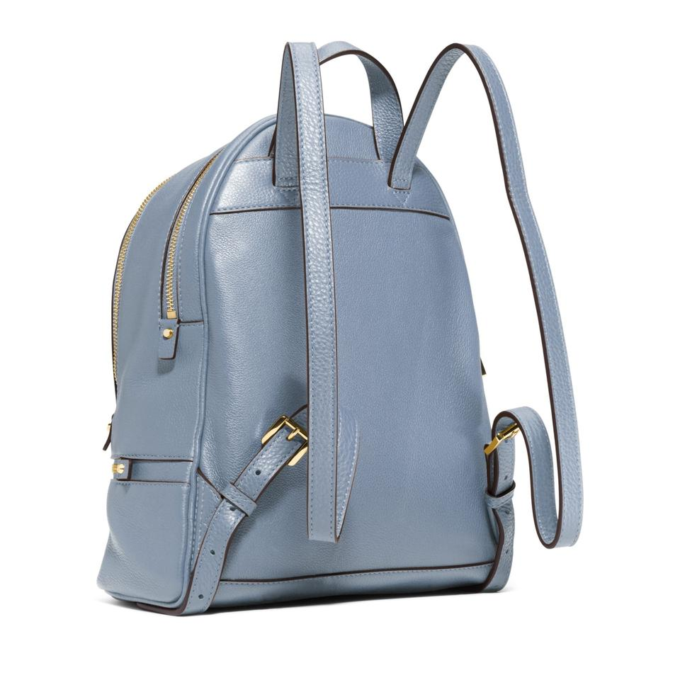 67c7e470fb6f Michael Kors Rhea Small Pale Blue Leather Backpack - Tradesy