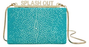 Kate Spade White Party Pool Blue Clutch