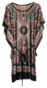 short dress Black Bohemian Paisley Beach Boho on Tradesy