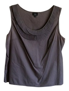 Mossimo Supply Co. Comfortable Cotton Decorative Neck Top grey
