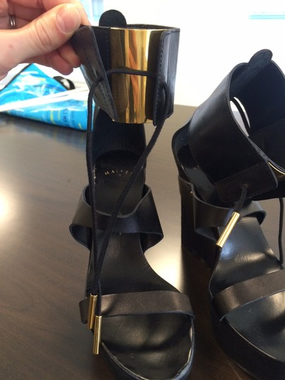Maiyet Cuff Detail Black Wedges
