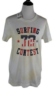 Dolce&Gabbana Vintage Unisex 100% Cotton Surfing Contest Tee T Shirt Multicolor