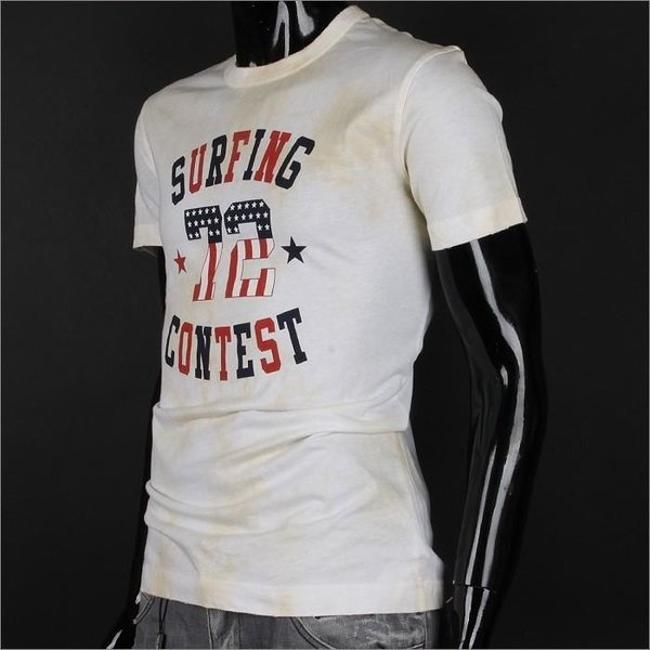 Dolce&Gabbana Vintage Unisex Cotton Surfing Contest T Shirt Multicolor