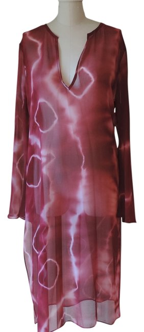 Item - Red Sheer Georgette Resort Dress Cover-up/Sarong Size 12 (L)