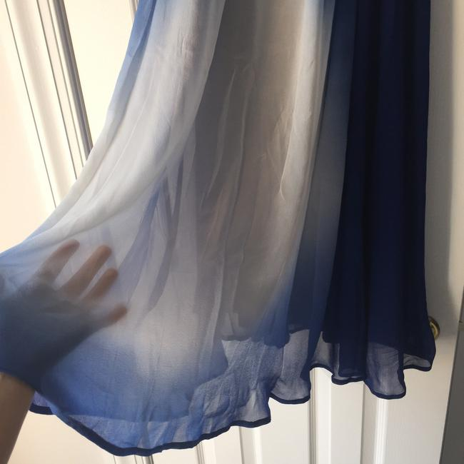 French Connection short dress Blue Ombre Bold Silk on Tradesy