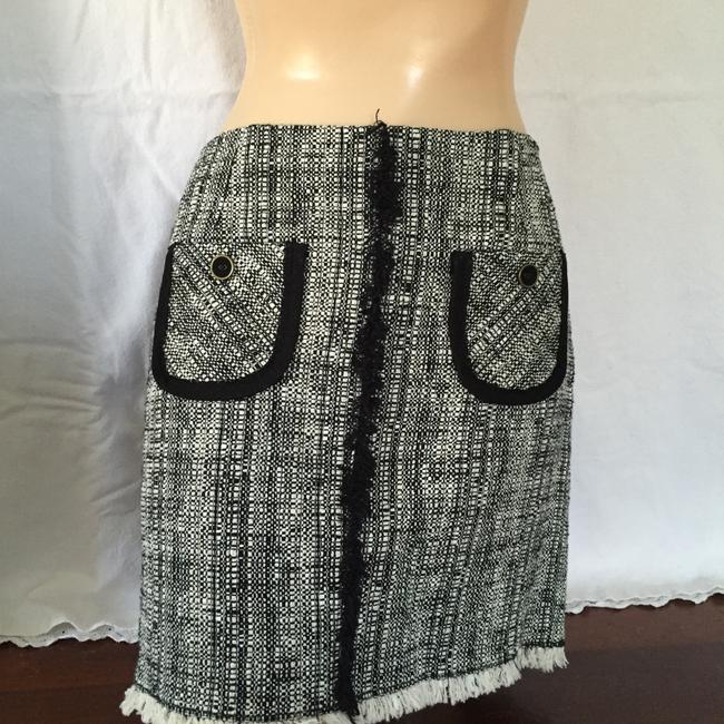 Trina Turk Skirt Black and white