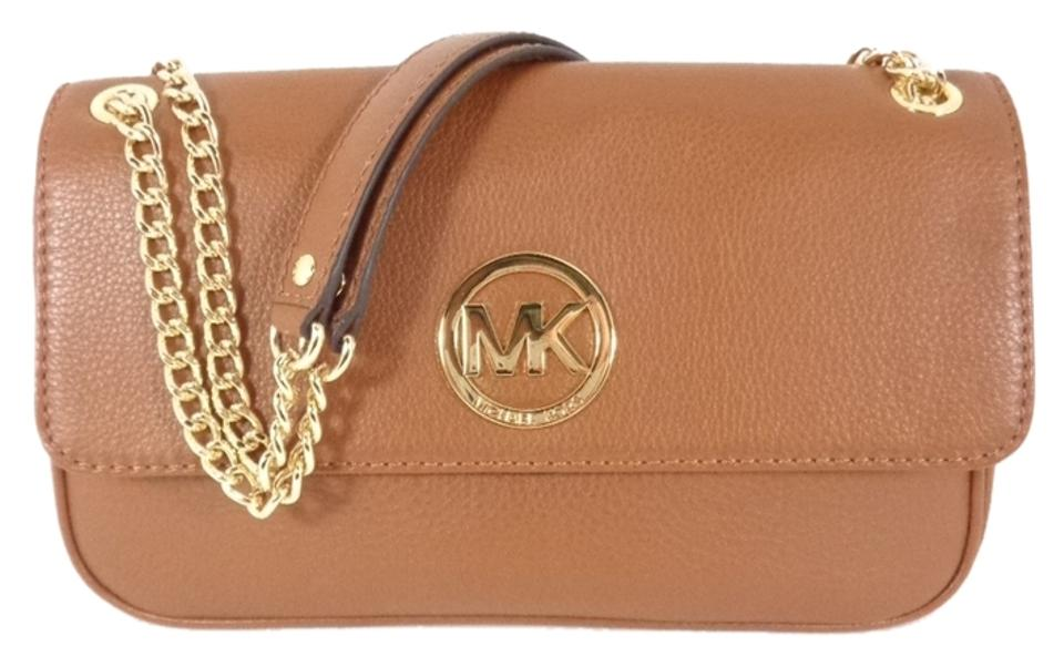 Michael Kors 35h2gftf1l Fulton Brown Leather Women s Purse Cross Body Bag  ... 6f6622e025